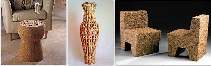 кора пробкового дуба в дизайне дома