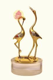 статуэтка журавлей -символ любви и творчества
