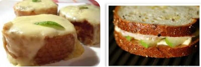 бутерброды сыр с яблоком
