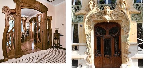 двери в стиле арнуво