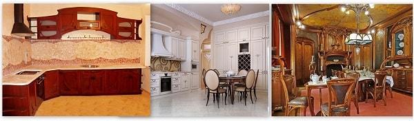 кухня в стиле арт нуво