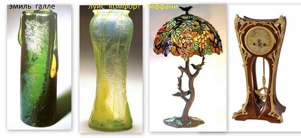 вазы в стиле артнуво