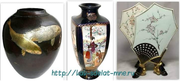 ваза к японскому интерьеру