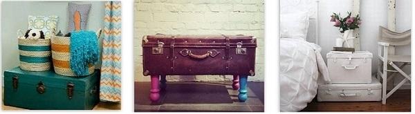 сундук из чемодана в интерьере
