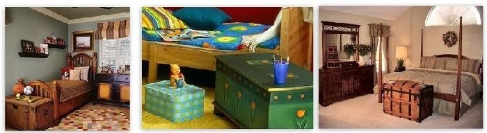 сундук в детской комнате