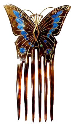 гребень с бабочкой