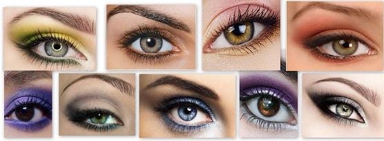 макияж глаз зимней женщины