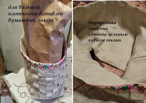 корзинка из текстиля
