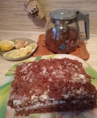 морковно-шоколадный пирог