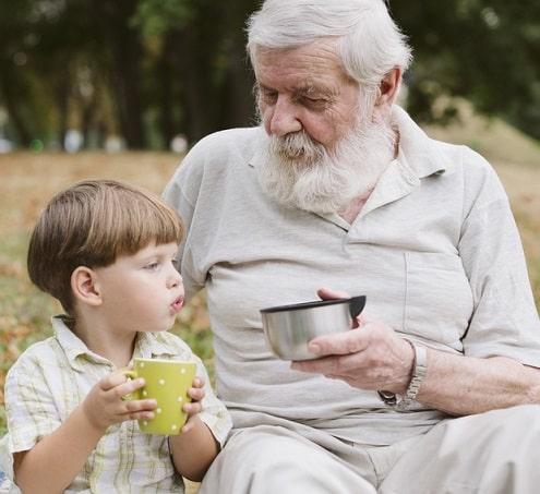 внук и старик